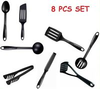 New 8 Piece Black Nylon Kitchen Cooking Utensil TEFAL HIGH QUALITY