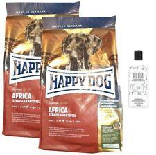 2x12,5kg Happy Dog  Africa Hundefutter + 250ml ONE WISH Hundeshampoo