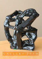 COOL! MID CENTURY MODERN ABSTRACT CERAMIC SCULPTURE! HENRY MOORE VTG 50S 60S ART