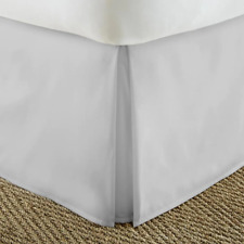 Bed Skirt King-Size Antimicrobial Hypoallergenic Microfiber Machine-Wash Gray