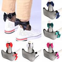 1 Pair Mesh Socks Bowknot Fish Net Short Fahion Breathable For Women Lady Girl