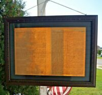 1773 Glass Framed Maryland & Baltimore Journal Newspaper HISTORIC - Sign