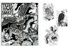 Tattoo Design Drawing Book- TIGERS, HAWKS & SNAKES by Horimouja -Flash Reference