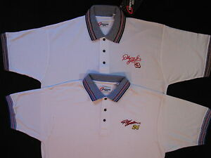 Dale Earnhardt #3 OR Jeff Gordon #24 Mens L XL White Polo Golf Shirt Nascar New