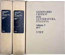 BRANCA Dizionario Critico della Letteratura Italiana 3 voll. UTET 1974