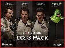 Blitzway Ghostbusters 1984: Dr.3 Pack Figure Set Peter+Raymond+Egon+Slimer