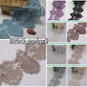 1 Yard Polyester Lace Trim Ribbon Crochet Applique Embroidered Sewing Craft HB81