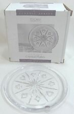 TOSCANY 4 Luncheon Salad Plates  24% Fine Lead Crystal Deck of Cards Poker Theme