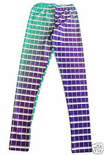 Wizards of the West Color Swatch Leggings Size S XS Green Purple Hex Code Pants