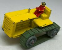 Matchbox Lesney Moko No 8a Yellow Caterpillar Tractor RARE version RED Driver
