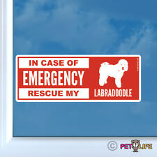 In Case of Emergency Rescue My Labradoodle Sticker Die Cut Vinyl - V2 Dog Doodle