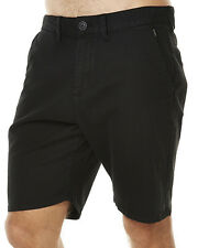 "NEW + TAG BILLABONG MENS SIZE 32"" NEW ORDER TWILL WALK SHORTS STRETCH BLACK"