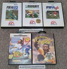 5 sega mega drive megadrive jeux de sports football rugby fifa pele gratuit uk p&p