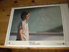 """Pay It Forward lobby card set. 8 cards x 14"""" wide by 11"""" high each. Sealed."""