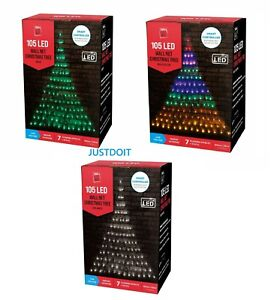 105 LED Wall Net Christmas Tree Lights 8 Modes Indoor Outdoor with smart control