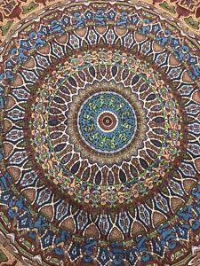 "Grateful Dead Dancing Bears Mandala 60""x90""Tapestry Tablecloth Sunshine Joy 2011"