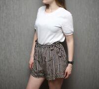 Isabel Marant Etoile Women`s 100% Silk Printed Stars Birds Shorts Size 40 , M