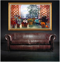MICHEL HENRY Original Oil Painting on Canvas Signed Still Life Art HUGE 45 x 76
