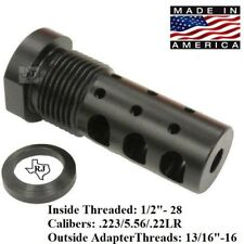 "1/2""-28 Muzzle Brake 223/5.56/22 Multi Function EXTERNAL THREAD ADAPTER 13/16-16"