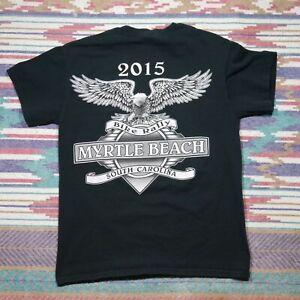 Myrtle Beach Bike Rally Shirt Adult Small Black South Carolina Biker Mens 2015