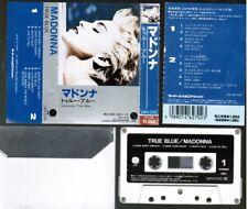 MADONNA True Blue JAPAN CASSETTE TAPE 14P4-2702 w/PS rare 1988 reissue Free S&H