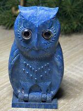 RARE Bourgeois Blue Bakelite Owl 🦉 Perfume Holder + Bottle