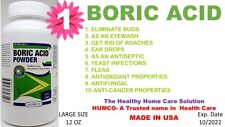 1 BORIC ACID POWDER by HUMCO 12oz ANTI-FUNGAL, ANTI-FUNGAL Exp. Date 10/2022 (1)