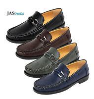 Mens Designer Slip On Shoes Fashion Smart Loafers Work Casual Moccasin UK Style