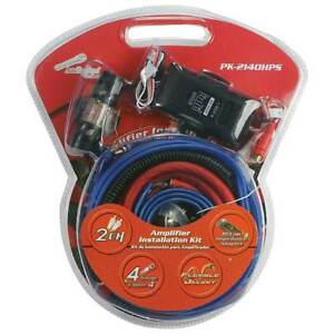 Audiopipe PK2140HPS Complete 4 Gauge Amp Kit With Line Out Converter