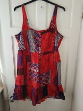 Joe Browns Red Patchwork Strappy Dress. Size 22. BNWT