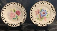 Vintage Decorative Plate Set With Stands Japan