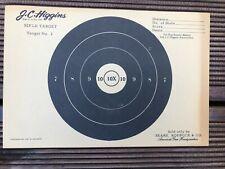 HIGGINS VINTAGE J.C - 50FT PAPER RIFLE TARGET # 6 SEARS