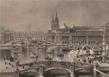 Grand Basin, MacMonnies Fountain, Columbian Exposition, Chicago. Albertype 1893