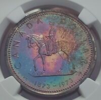 Toned Silver 1973 Canada Dollar | NGC SP66