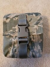 AIR FORCE ABU TIGER STRIPE FIRST AID POUCH WITH PLASTIC INSERT CASE