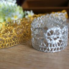 New 10 Yards DIY Flower Trims Crochet Lace Edge Ribbons Sewing Accessories Lace