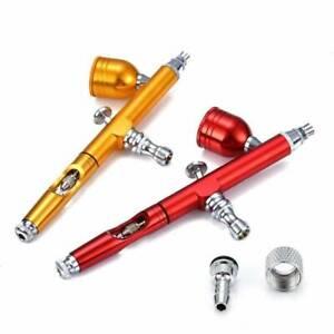 Airbrush Spray Tool Dual Action Metal Gun Needle Nozzle Convenient Durable