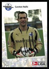 Carsten Nulle Autogrammkarte SC Paderborn 2007-08 Original Signiert  +A 79426