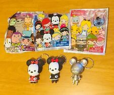 Disney 3D Figural Keyring Keychain Exclusive Minnie Mouse And Gold Mickey