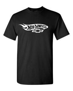 CHEVY Motor Hot Wheels   BLACK T-SHIRT (SIZE: S-5XL) <FREE SHIPPING>