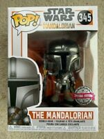 The Mandalorian Chrome Beskar Armor Funko Pop Vinyl New in Box + Protector