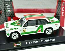 Coche Auto Rally Escala 1:43 Burago Fiat 131 Abarth Alitalia diecast Racing