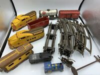 Marx Union Pacific M 10005 Yellow/Brown O Scale Train Engine Wind-up Tracks Tin