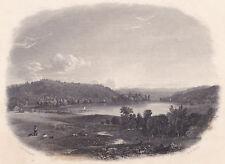 Jasper Cropsey original c1850 engraving WA-WA-YAN-DAH LAKE, New Jersey