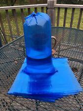 """25 10"""" x 22"""" Aquarium Blue Plastic Fish Bags 2.5 mil Made in Usa"""
