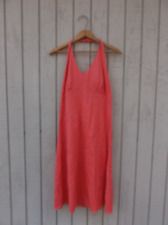 Ann Taylor Dress 6 Coral Halter Floral Embroidery Size 6 Womens Used Summertime