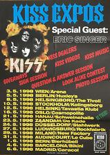 KISS EXPOS 1998 Eric Singer - Tourplakat Konzertplakat Poster - gefaltet  folded