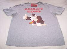 Nintendo Donkey Kong Thumbs Up Mens Grey Marle Printed T Shirt Size L New