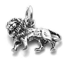 925 Sterling Silver 3D Lion Charm