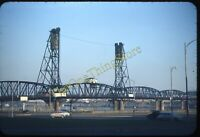 Hawthorne Bridge Portland Oregon 1950s 35mm Slide Red Border Kodachrome Original